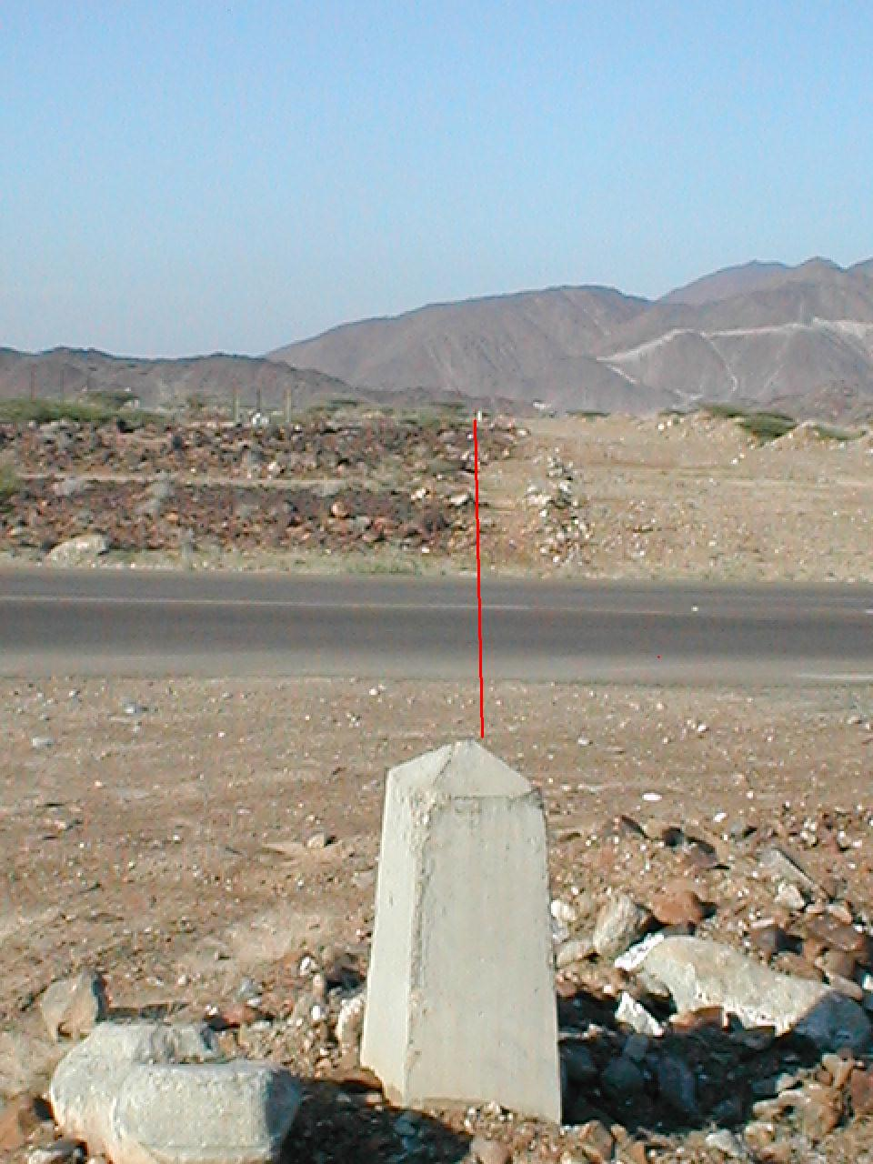 Madha border looking North
