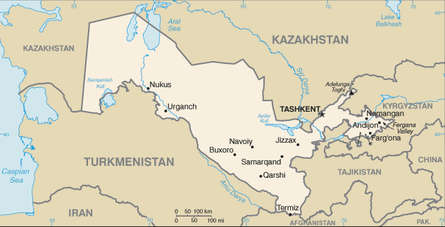 CIA -- The World Factbook 2000 -- Uzbekistan